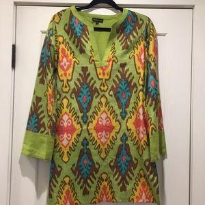 Aoyama Itchome colorful silk tunic